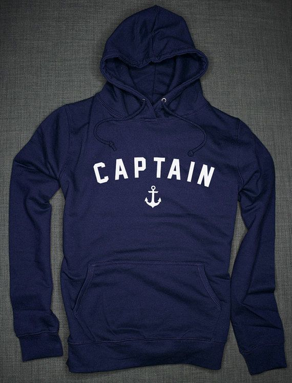 Nautical Hoodie - Captain Nautical Achor Sailing Boat Hoodie  This hoodie is made of premium quality ring spun cotton for a great quality