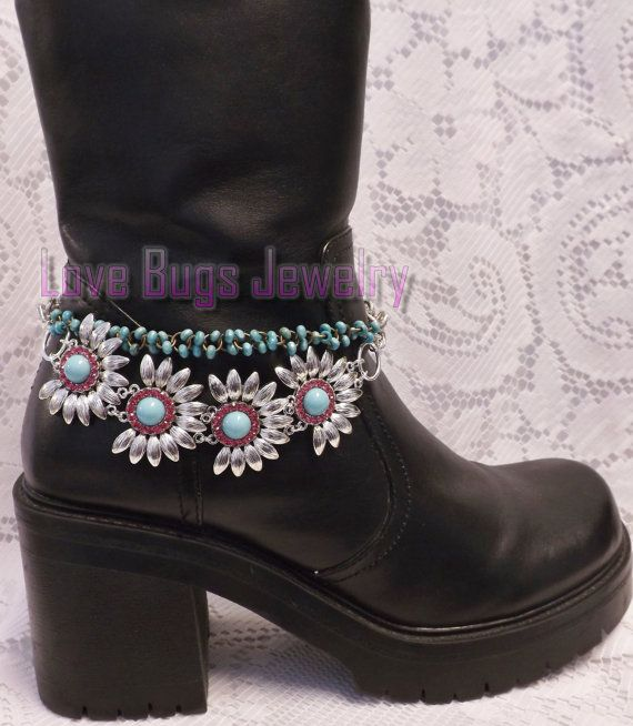 Carried Away Boot Jewelry Turquoise Boot by LoveBugsJewelry