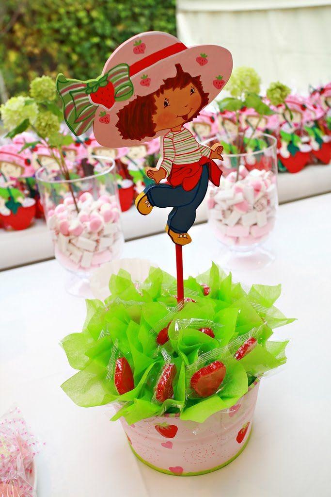 Centro de mesa frutillitas cumplea os y globos - Centros de mesa para cumpleanos ...