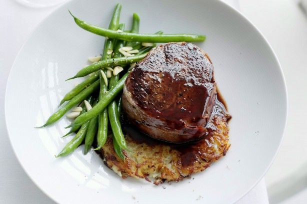 Create a restaurant quality meal in your own kitchen with this gourmet steak and potato rosti recipe.