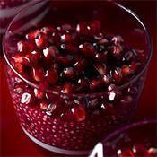 Perles de tapioca aux éclats de grenade - une recette Exotique - Cuisine