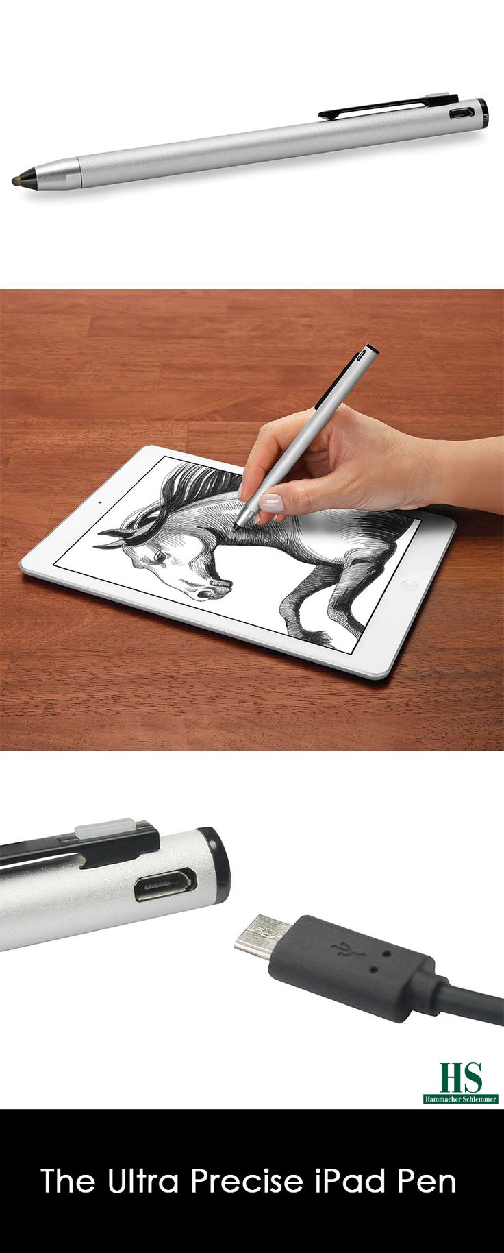 This is the stylus that provides enhanced precision and control while drawing or writing on all Apple iPad and iPad Pro models. It employs advanced circuitry in combination with a replaceable 2.8 mm conductive PET tip that flexes and glides across a tablet, enabling pointillist detail while drafting or doodling. Comparable in size and feel to its ink-filled cousins, the pen is ideal for outlining a sketch or crafting legible notes.