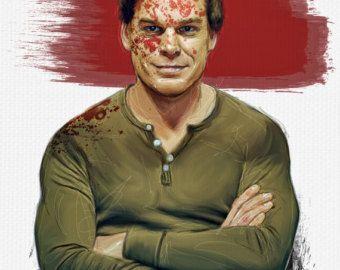 Dexter fuso arte pastello di CrayonGogh su Etsy