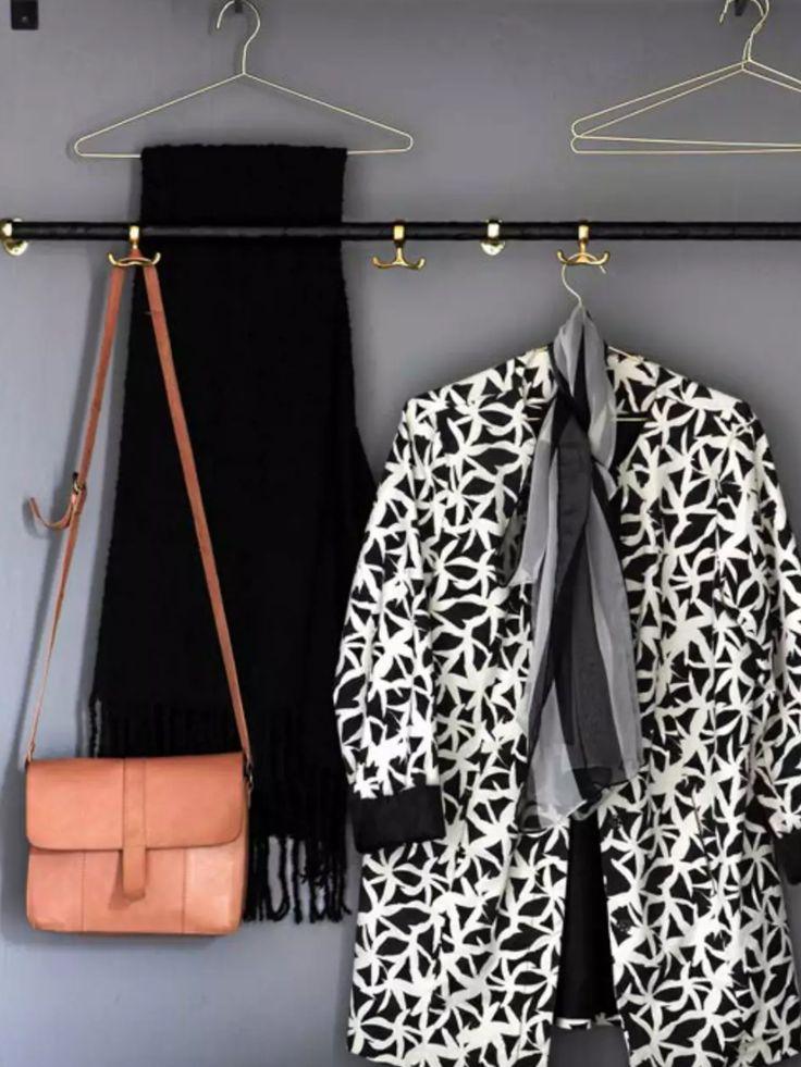 DIY rundstav klädd med läderband // rod dressed with leather strings.