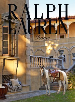 Ralph Lauren home. Does not everyone have a horse tied up outside?