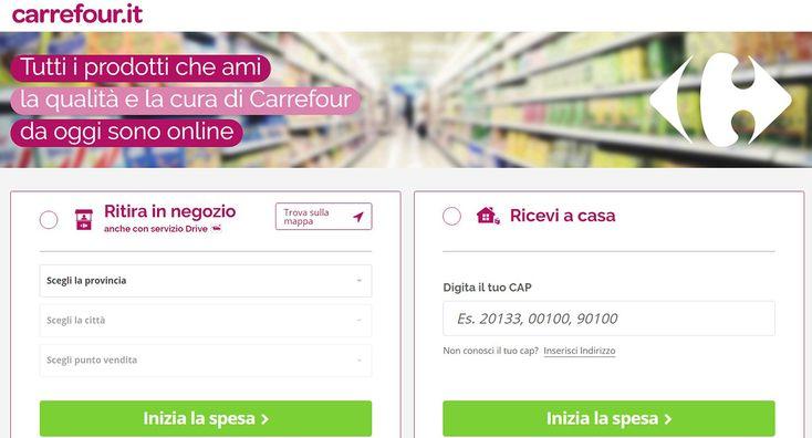 Carrefour Italia lancia il suo nuovo servizio e-commerce e accedendo a carrefour.it in pochi click sarà possibile fare la spesa online