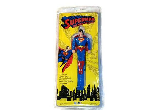 Superman The Man Of Steel Child's digital wrist watch 1994