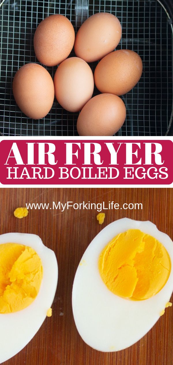 Air Fryer Hard Eggs Recipe Boiled eggs, Easy hard