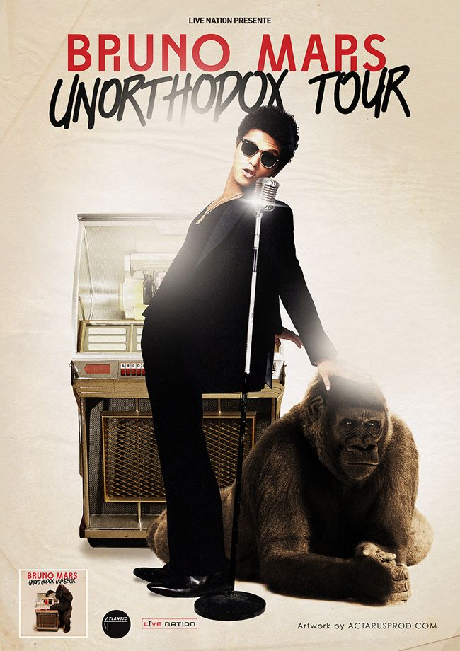 Promotional Poster for Bruno Mars Tour 2013