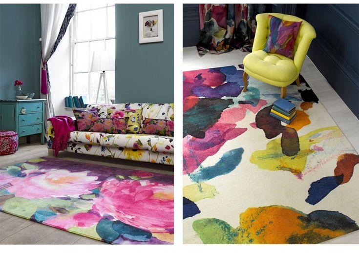Watercolor #rugs van @bluebellgray maken uw woonkamer of slaapkamer levendig! http://www.vloerkledenwinkel.nl/search.php?q=bluebellgray…
