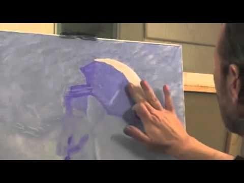 Девушка с зонтиком Моне Урок с замедленными съемками, художник Игорь Сахаров - YouTube