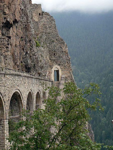 Aqueduct of #monastery Sumela in Turkey.