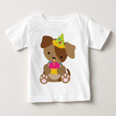 Puppy Birthday Baby T-Shirt - tap, personalize, buy right now!