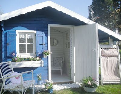 p nktchengl ck das kleine haus im garten gartenhaus. Black Bedroom Furniture Sets. Home Design Ideas