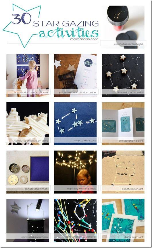30 Best Star Gazing Activities | @mamamissblog #starrynight #constellation #diy