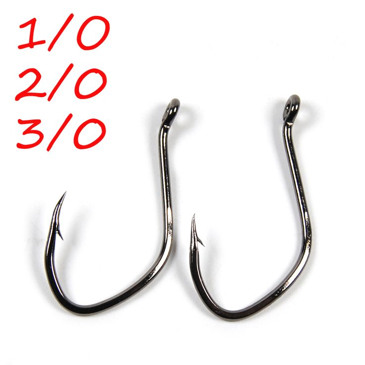 50Pcs 1/0 2/0 3/0 Black nickle High Carbon Steel Catfish hook Barbed Sea Fishing Hooks