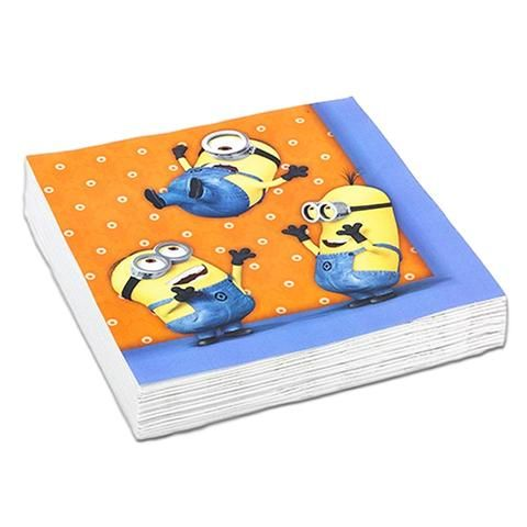 Minions Napkins - Pack Of 20