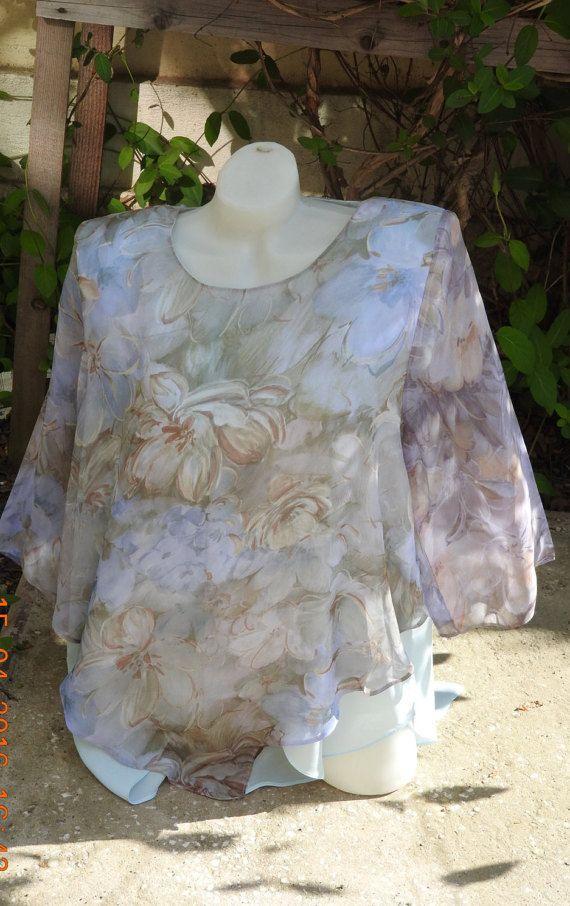 Large Veil Women Tunic Women Summer Blouse  Soft by JadAngel