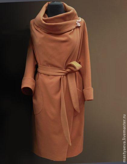 """Пальто """"Карим"""" - ярко-красный,пальто,женское пальто,стильное пальто,Весеннее…"""