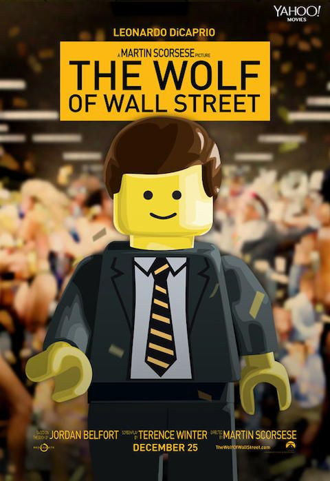 The Wolf of Wall Street - Carteles de películas nominadas al Oscar 2014 recreados con LEGO