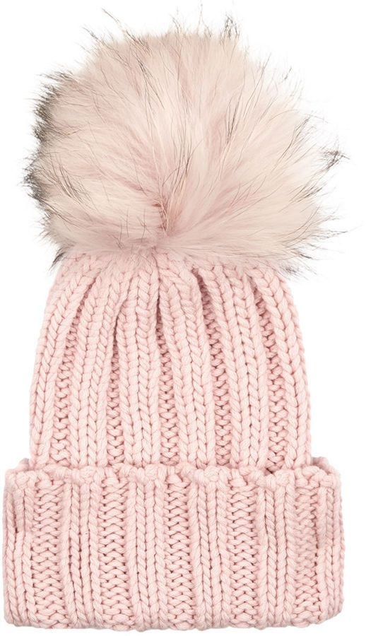 Inverni Pink Cashmere Fur Bobble Hat | #Chic Only #Glamour Always