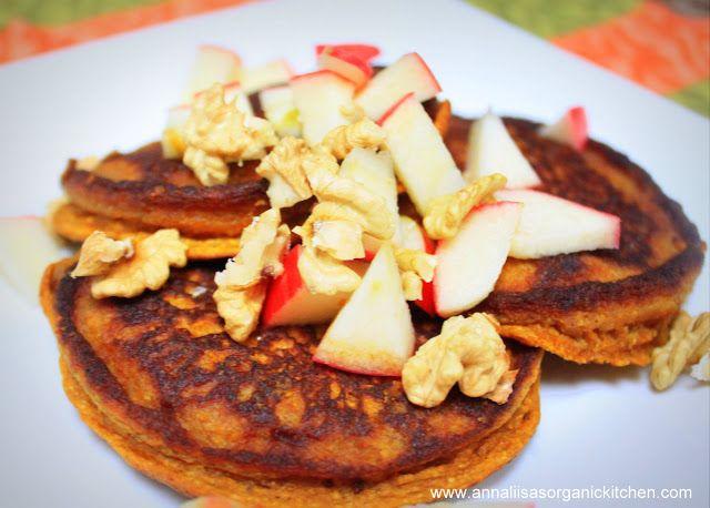 gluten-free fluffy pumpkin pancakes