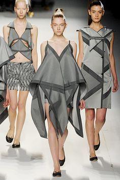 Issey Miyake Fall 11 Origami Inspired Very Geometric