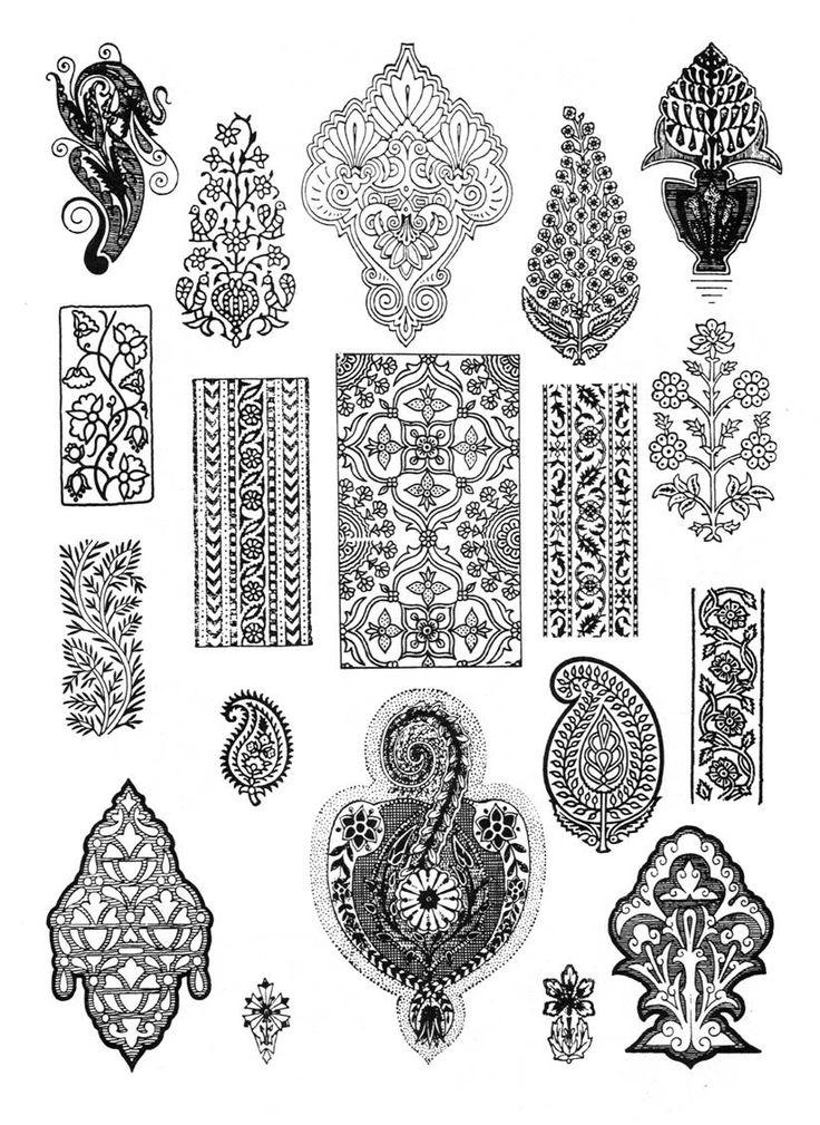 индийские узоры орнаменты indian patterns and ornaments