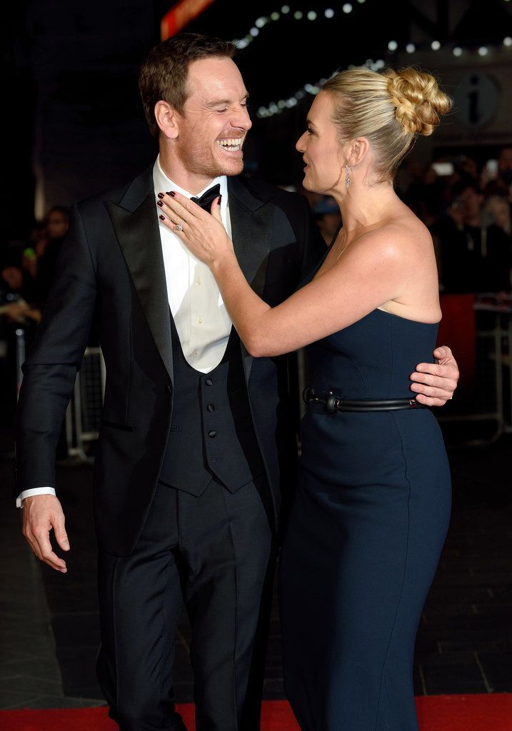 Kate Winslet and Michael Fassbender couldn't have been cuter when they stepped out for the London premiere of their movie Steve Jobs
