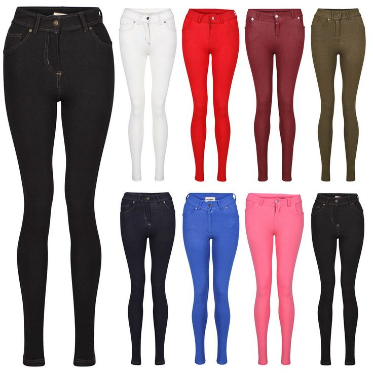 #NEW #SKINNY #FIT #COLOUR #STRETCHY #JEANS #LADIES #WOMENS #JEGGINGS #Trousers #Skinny #SIZE #8-16 #Navy #RoyalBlue #OffWhite #Wine #Khaki #Red #Pink
