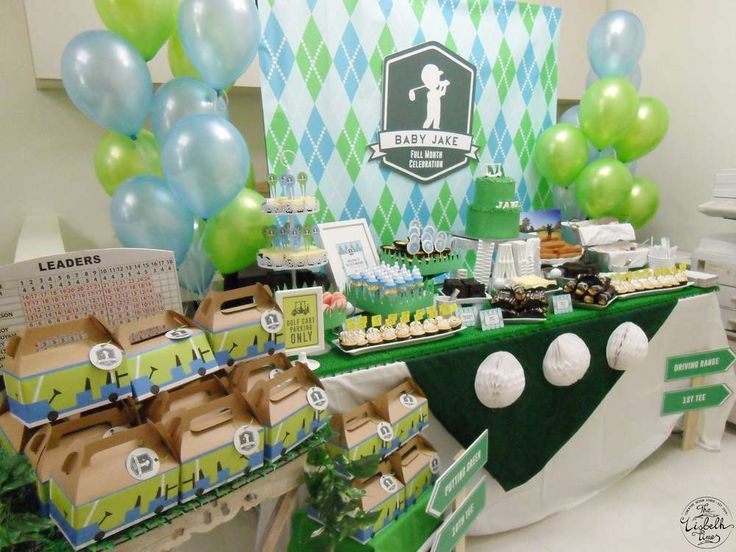 golf baby shower party ideas