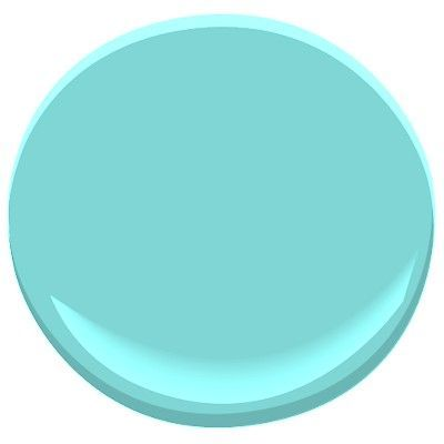 Benjamin Moore Tropicana Cabana 2048-50 Tiffany Blue color for the makeup room!