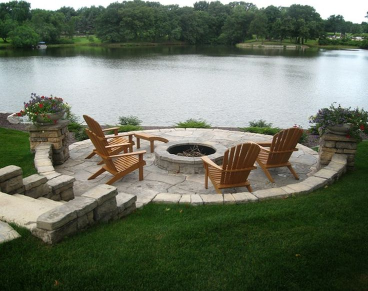 love the chairs but the circular pit and patio to take advantage of that view is awesome