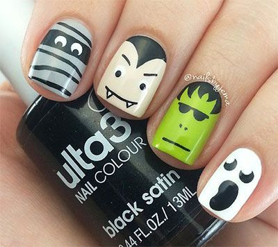 Best 25 nail art video download ideas on pinterest bag of nails 12 frankenstein halloween nails art designs 2016 4 sciox Choice Image