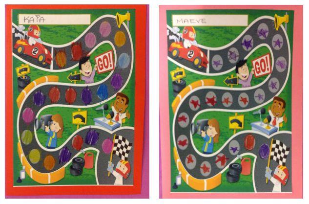 PY 1 Uke 15: Mange av 1.klasse elevene våre har fått fyllt opp racingkartet sitt med stjerner for god arbeidsinnsats og oppførsel denne uka. Super jobb 1.klasse:)!! Elevene får kartene med hjem når de er fyllt opp, så skryt godt av dem:)