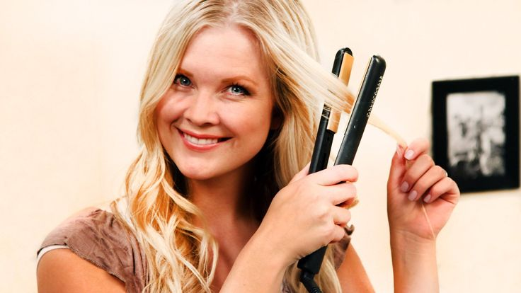 How-to Get Beach Waves with a Flat Iron! I must master this.