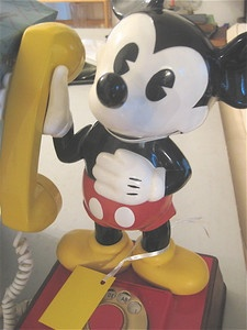 Mickey Mouse phone. Classic!