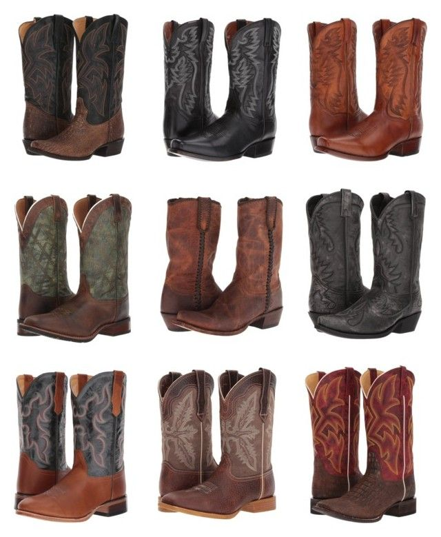 """""""Cowboy boots inspiration ~ Gerjanne"""" by deamagna ❤ liked on Polyvore featuring Roper, Dan Post, Laredo, Lucchese, Old West, Durango, men's fashion and menswear"""