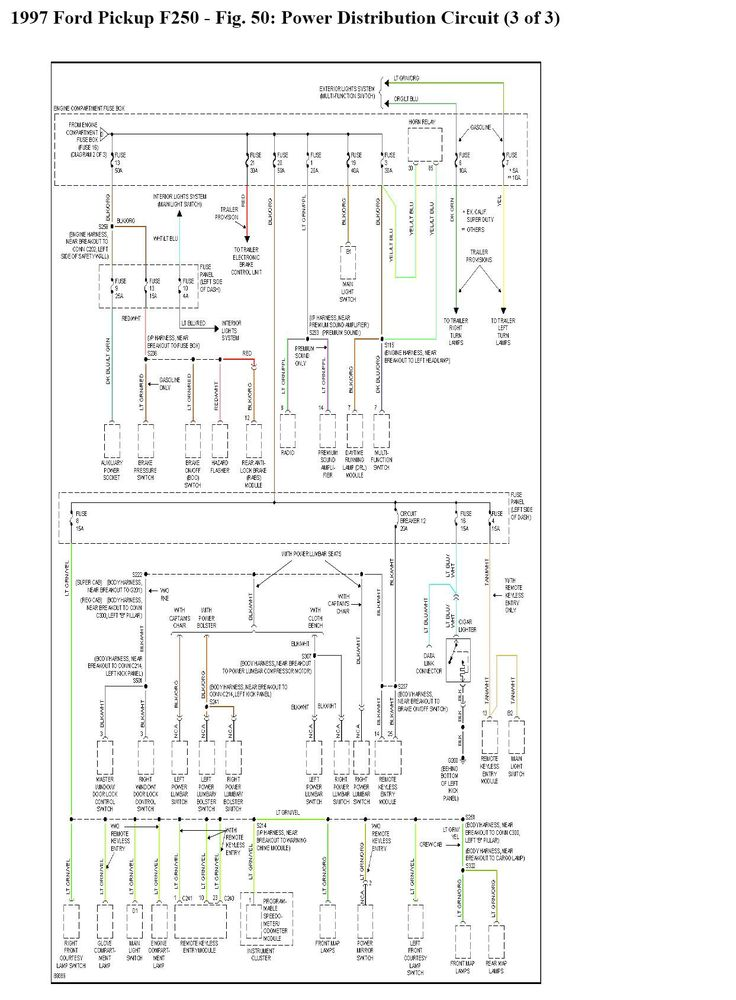 1997 Ford F350  I Find A Complete Wiring Schematic  7 3l