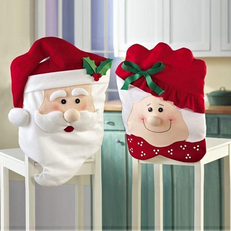 LIHAO Stuhlhussen Weihnachtsmann und -frau Stuhlüberzug Stuhl-Abdeckung Mr & Mrs Santa Claus Weihnachtsdeko (2 Stk.) http://www.amazon.de/dp/B016I9ZIY4