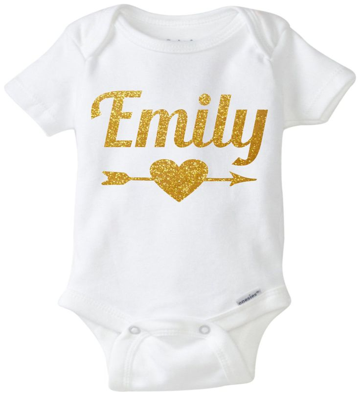 Personalized Onesie Girls Name Onesie Arrow Girl baby onesie Newborn Onesie Glitter onesie Glitter Baby Glitter shirt Baby shower gift by mkclassyprints on Etsy