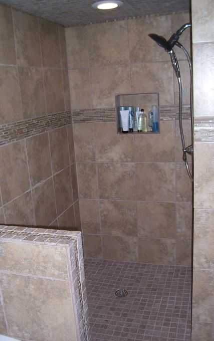 find this pin and more on home remodel ideas doorless shower stall