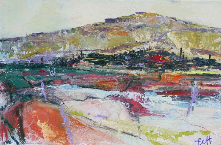 Morning Landscape Oil on Board 26 x 38 cm   #Art #Paintings #Landscape