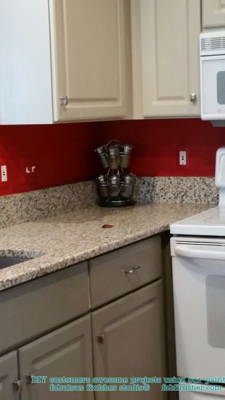 Sonja used the reclaim paint color pebble by caromal colours a - Painted_cabinets_kitchen_reclaim