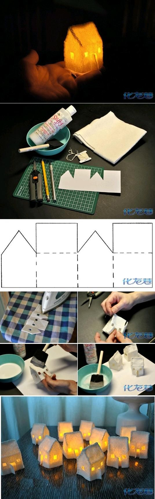 DIY Creative Cabin Lights This would be a great project for the kids!