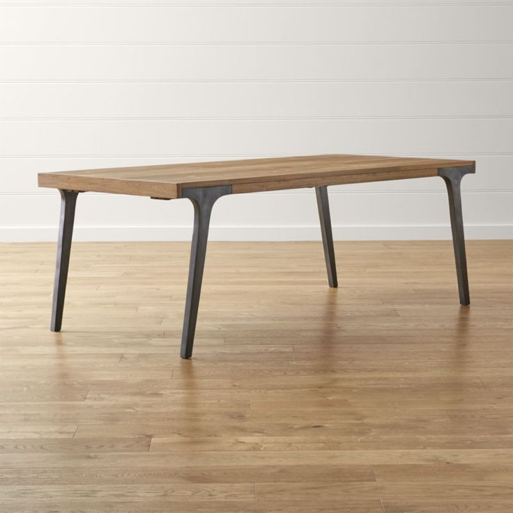 Lakin Recycled Teak Extendable Dining Table | Crate and Barrel