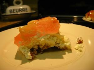 Peach Pretzel Jello Salad. Weird name. Awesome dessert!
