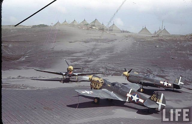 P-40's at Aleutian Islands (S.A. B257) during WWII. LIFE photo database Photo by Dmitri Kessel #wwii #wwiiincolor #wwiicolor #fighterairplane #aviation #airplane #aircraft #airforce #warbird #airfield #warplane #history #aviationphotographyy #P40