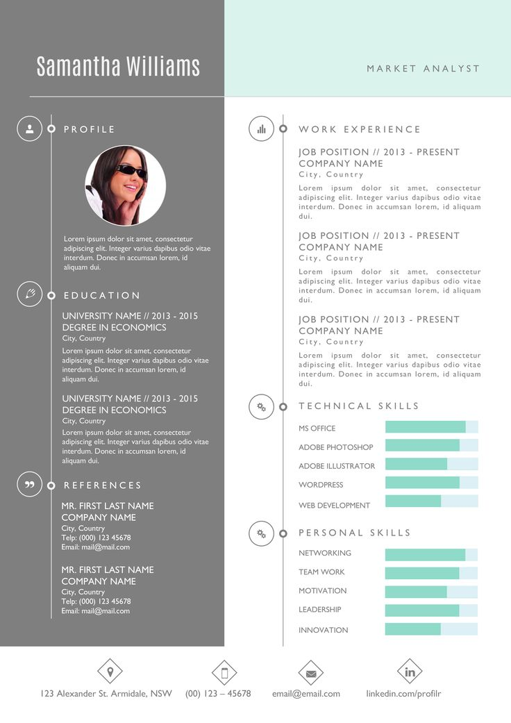 The 25+ best Photographer resume ideas on Pinterest - Resume Templates For Word 2013