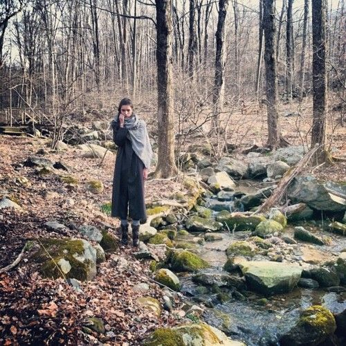 in the woods.